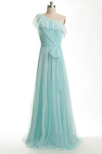Chiffon Prom Dresses, Simple Prom Dresses, One Shoulder Prom Dresses, Floor-Length Prom Dresses, A-Line Prom Dresses, Custom Prom Dresses, Bridesmaid Dresses