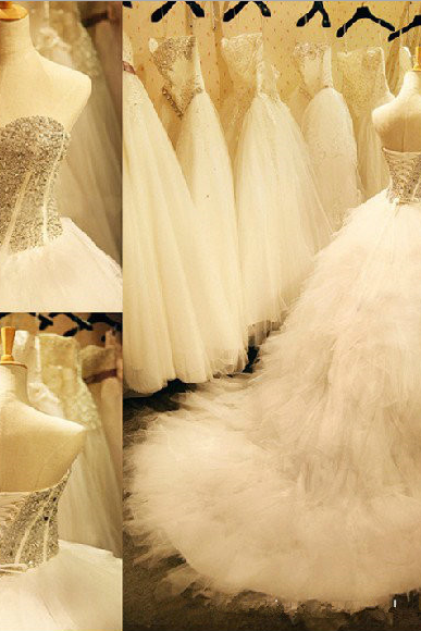 Wedding Dress,Wedding Dresses, Wedding Party Dress, New Arrival Wedding Dress, Sweetheart Wedding Dress, Crystal Wedding Dress, Bridal Gown, Gorgeous Wedding Dress, Lace-Up Wedding Dress, Organza Wedding Dress, Long Wedding Dress, Hot Sale Wedding Dress, High Quality Wedding Dress, Custom Made Wedding Dress